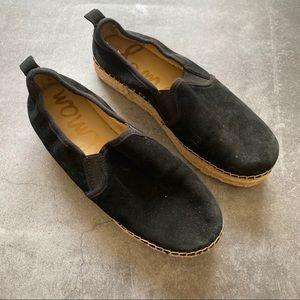 Sam Edelman Black suede loafers